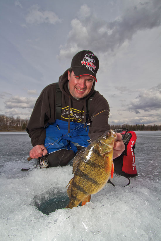 Ice fishing deep perch all creation outdoors for Ice fishing perch