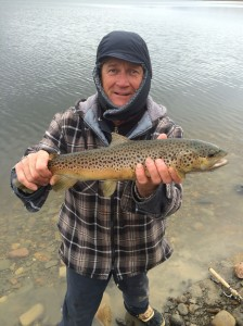 Spring is a great time for shore-casting browns, rainbows and lakers.